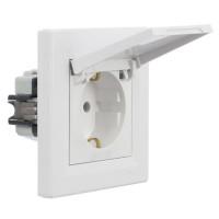 Priza simpla cu capac de protectie, Schneider Electric Asfora EPH3100121