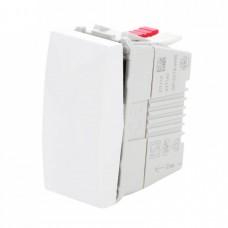 electrice valcea - intrerupator simplu schneider unica, incastrat, modular, alb - schneider - mgu3.101.18