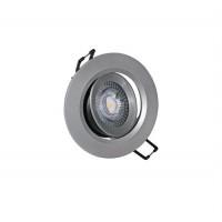 Spot LED reglabil, incastrat, rotund, 5W, 400 lm, 3000k, 90 mm, argintiu, IP 20